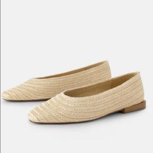 Zara Straw pointed toe flats size 7.5